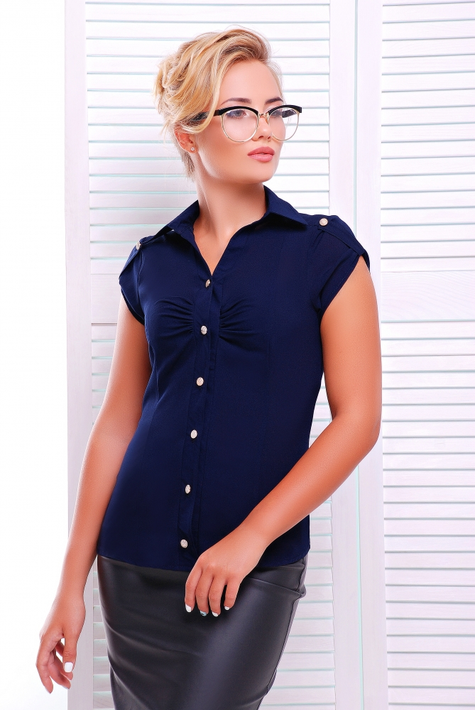 "Рубашка""Альфа""синий"